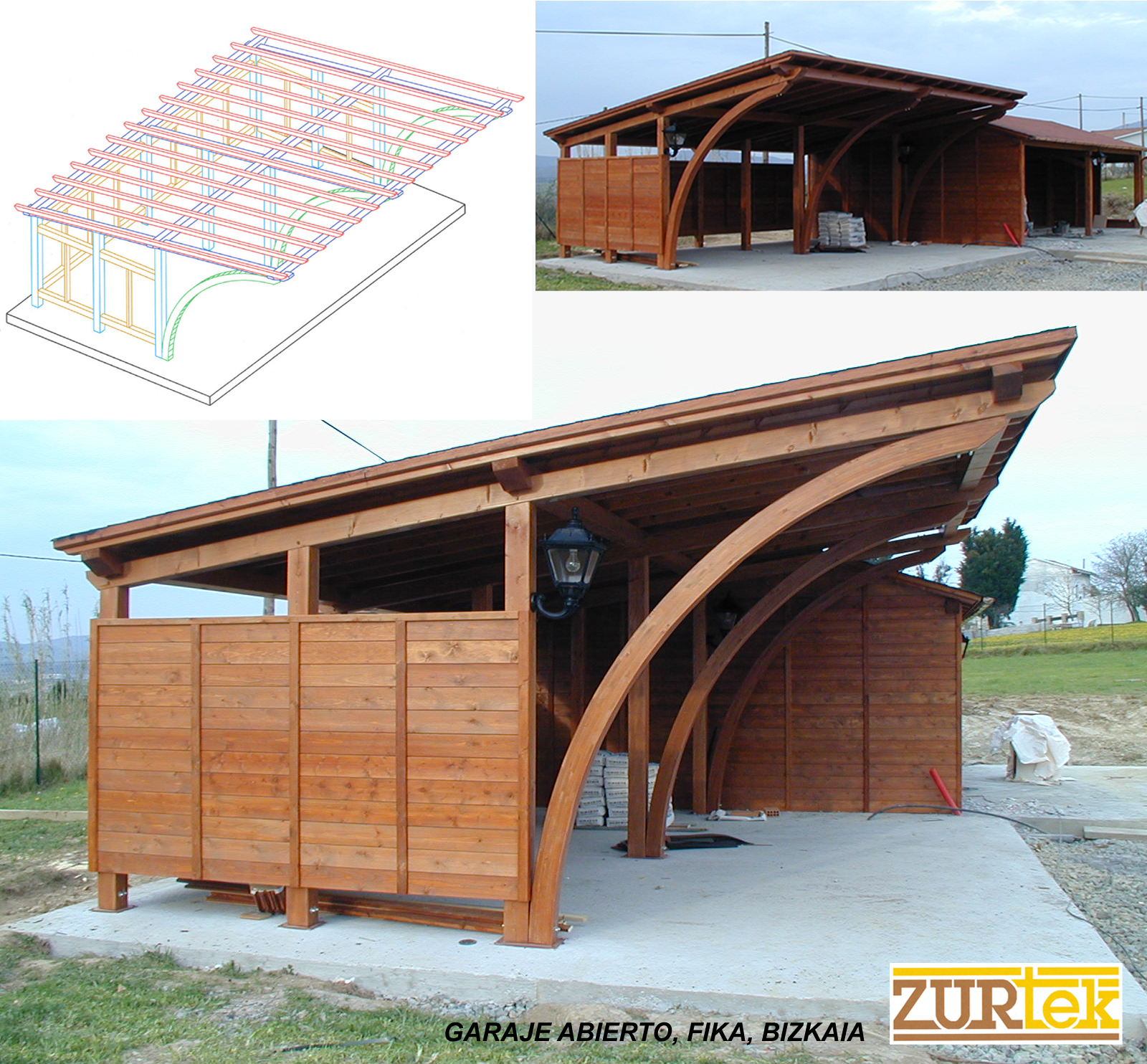 Gallery porches and pergolas zurtek engineering - Porches en madera ...